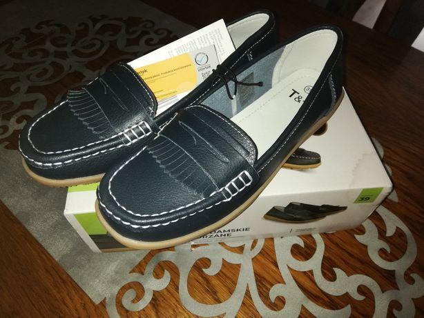 Nowe skórzane buty damskie