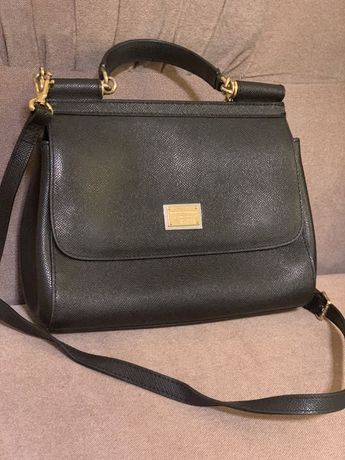 Кожаная сумка Dolce Gabbana