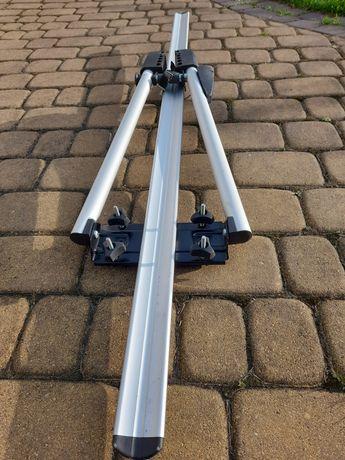 Aluminiowy uchwyt rowerowy dachowy.