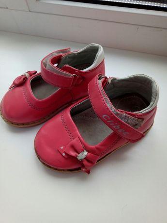 Кожаные туфельки для малышки
