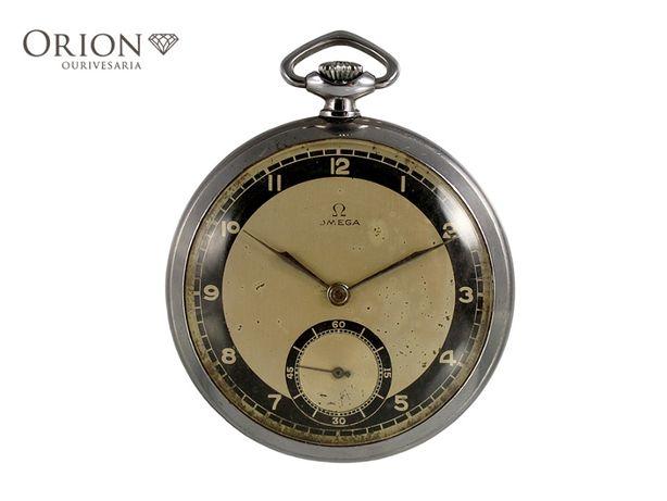 "Relógio de bolso Omega Acier ""Staybrite"" (1935)"
