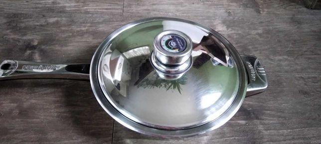 Сковородка-сотейник из нержавейки с трехслойным дном HOFFBURG