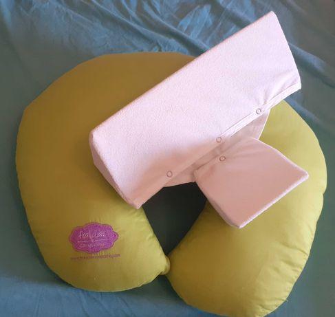 Almofada de amamentação e almofada anti giratória