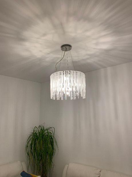Żyrandol lampa sufitowa kryształowa LED