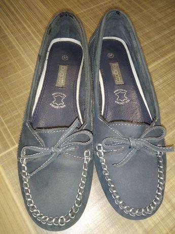 Туфли мокасины bugatti 37р, 23,5 см