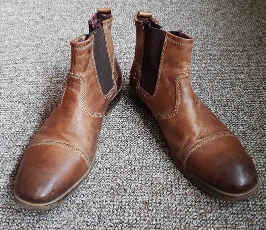 buty sztyblety kowbojki skóra Lasocki 43 męskie 29cm wkladka wycierane