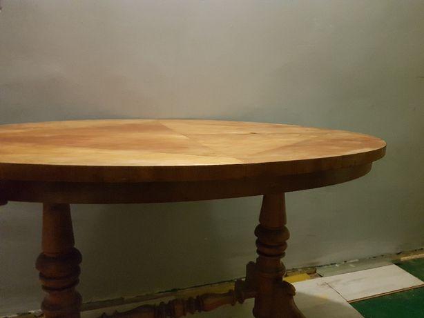 stół owalny drewniany