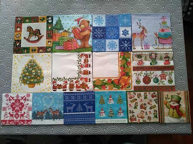 Serwetki Boże Narodzenie decoupage rękodzieło, 70 sztuk, 14 x 5 szt