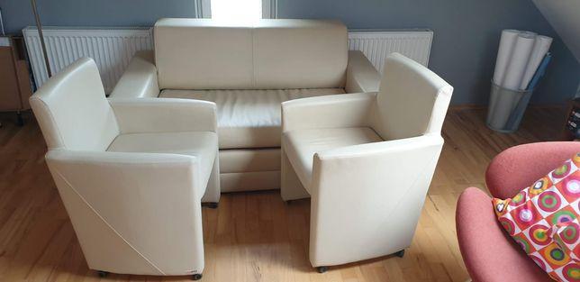 Kanapa rozkładana plus 2 fotele