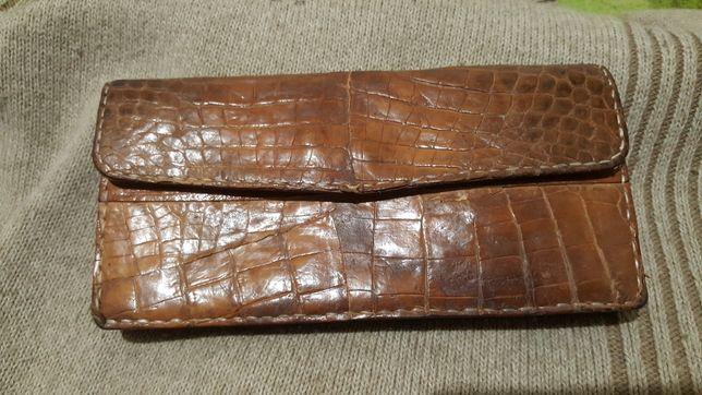 Кошелёк клатч из кожи крокодила