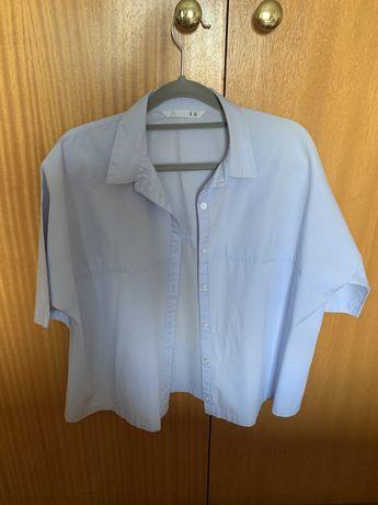 Camisa manga curta azul clara Lefties