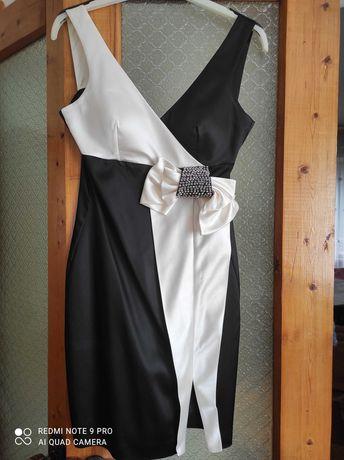 Плаття нарядне. Чорно-біле. S-Xs
