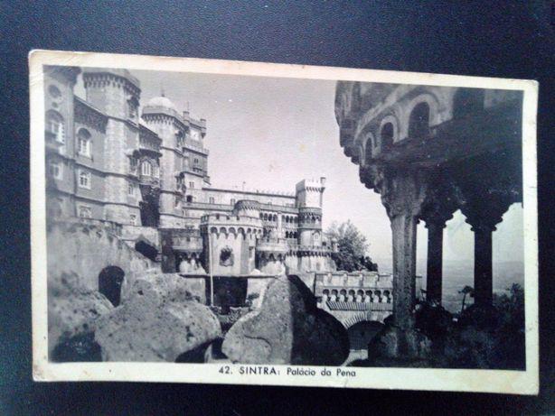 Postal antigo Palácio da Pena (Sintra) anos 60 da coleção J.C.A.L.