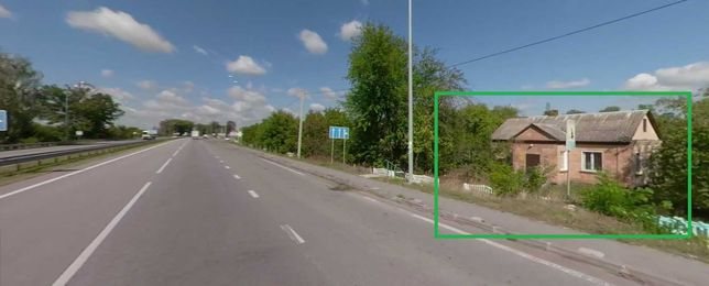 Фасад житомирської траси, ділянка 0.0435 га, будівля 48.1 м²