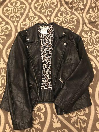 Кожаная куртка H&M на девочку, 134 р