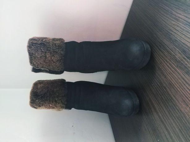 Зимние сапоги, натуральный нубук