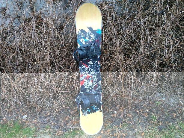 Deska Snowboardowa Ride 155 cm z wiązaniami Salomon