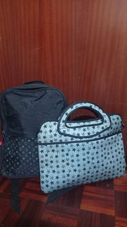 Conjunto Mochila Morgan e Bolsa PC note
