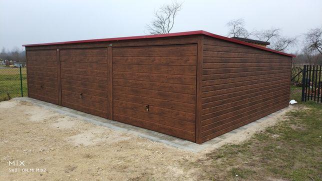 Garaż blaszany 9x6 drewnopodobny 4x5 4x6 6x5
