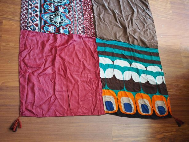 Toalhas de mesa étnicas Shabby Chic patchwork 100x100cm