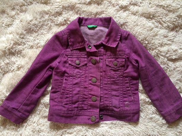 Стильная джинсовая куртка Benetton 82-86