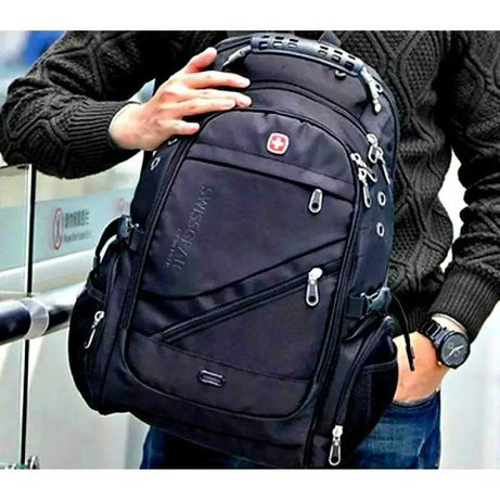 Рюкзак с дождевиком Swiss gear 8810 black