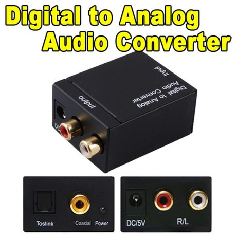 Конвертер аудио декодер звука цифровой оптика spdif в аналог адаптер