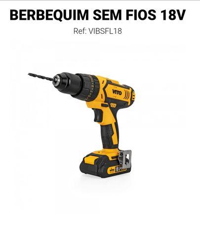 Berbequim s/fios Vito 18V 2 Bat. 2Ah