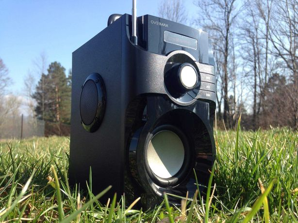 Radio Przenośne z Głośnik Bluetooth Subwoofer Kolumna Wieża Budowlane
