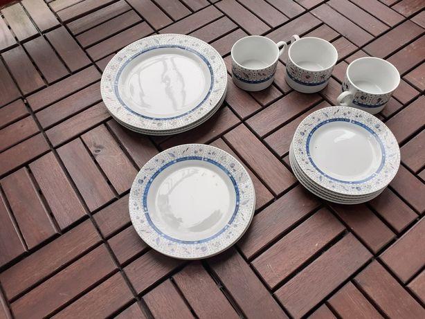 Kolekcja, zestaw porcelanowych talerzy Lucky Charm.