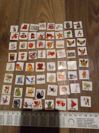 Продам маленькие наклейки из мультиков (конец 90х)