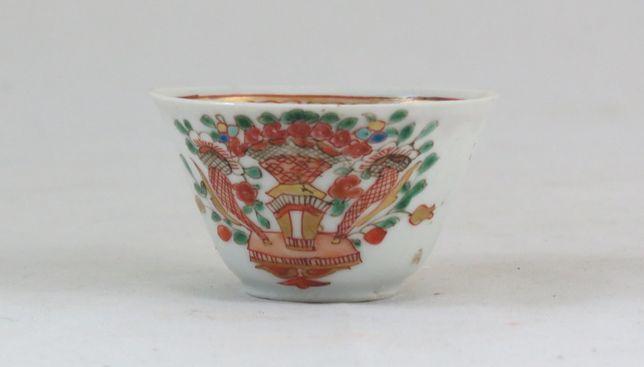 Tigela de porcelana chinesa Companhia das Índias dec Família Rosa 6cm