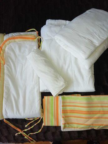 Pościel do łóżeczka z ochraniaczem i wypełnieniem