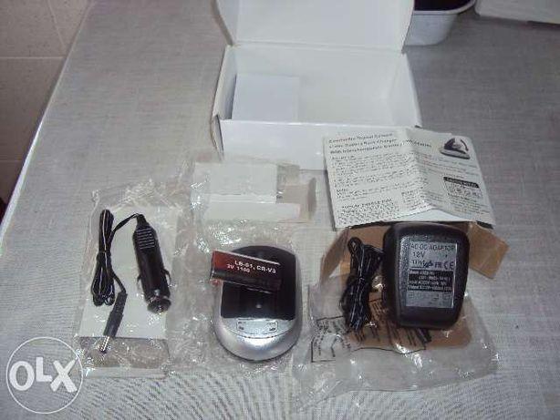 Carregador e bateria digital camera