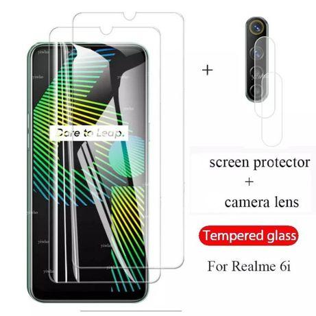 Защитное Стекло На Экран И Камеру Realme 6i
