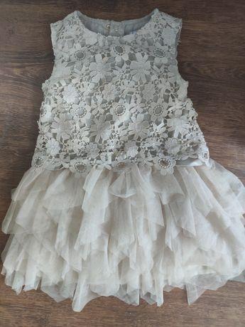 Sukienka mayoral 110 cm kremowo-zlota
