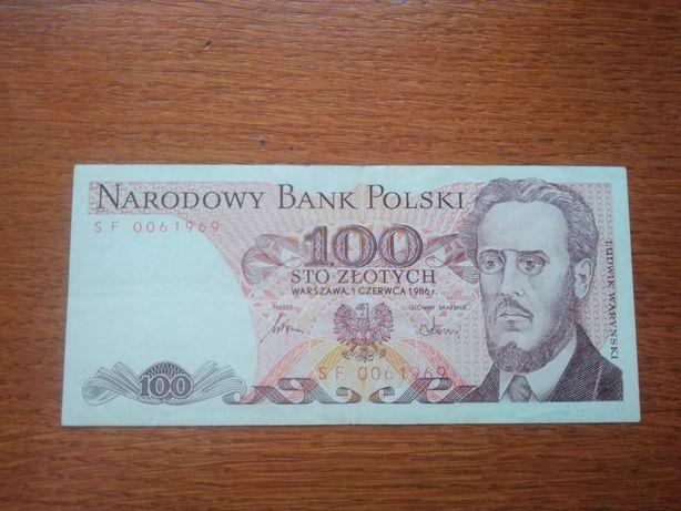 Banknot 100 złotych PRL (1986) Ludwik Waryński