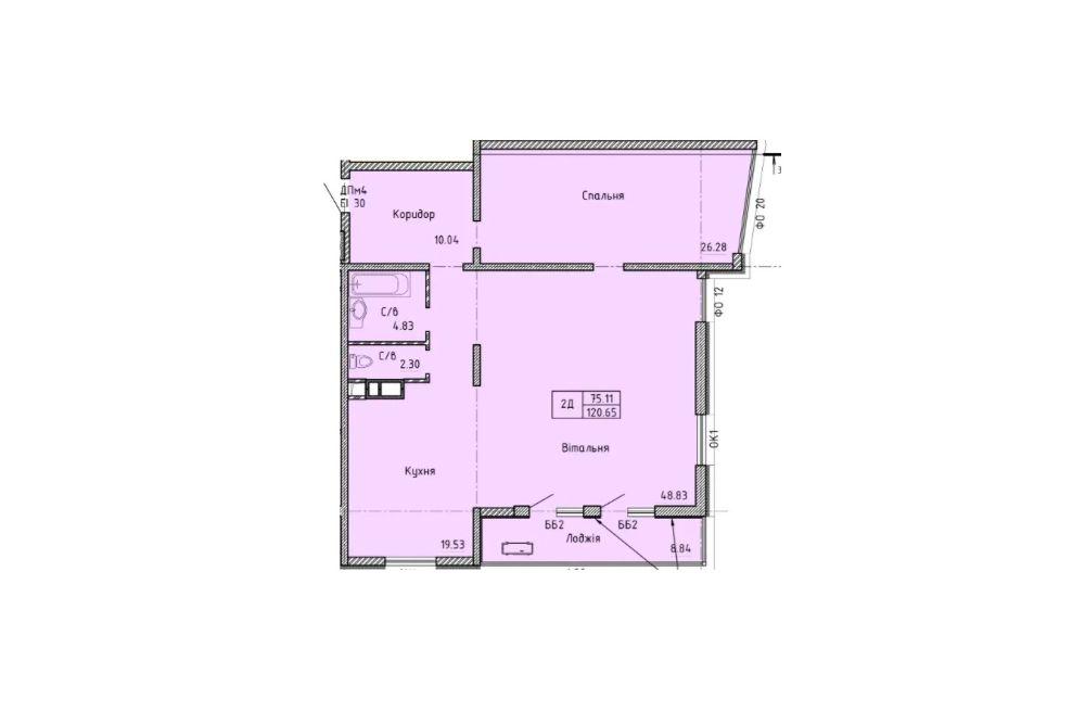 Трехкомнатная квартира 121 кв.м. в ЖК Олимпийский с видом на море Одесса - изображение 1