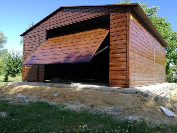 Garaż 5x6 blaszany, drewnopodobny, blaszak, Mocna konstrukcja, OKUCIA