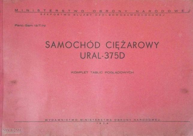 Ural 375D 375 oryginalne tablice poglądowe