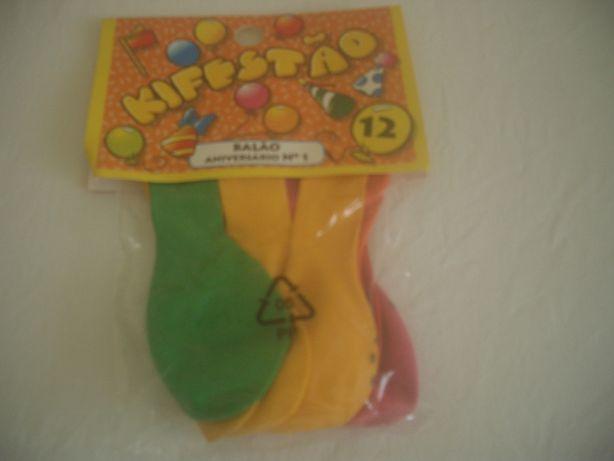 12 balões na embalagem original selada
