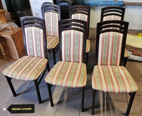 Komplet krzeseł krzesła drewniane 4 6 szt