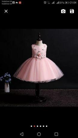 Нарядное детское платье 7-10лет. Пышное платье. Платье для девочки.