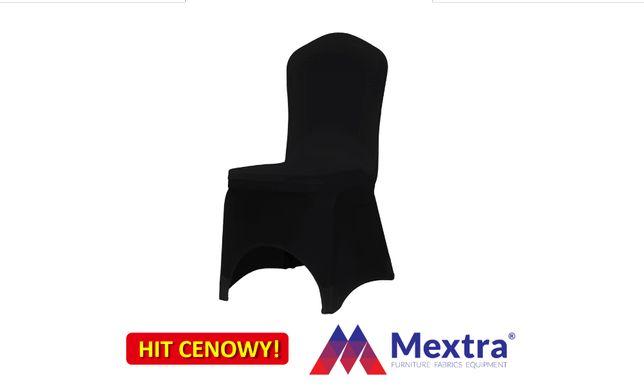 Pokrowce na krzesła bankietowe SLIMEX 200 czarny, pokrowiec