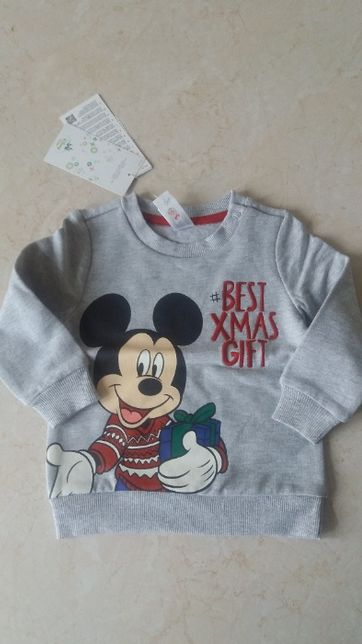 Nowa bluza Myszka Mickey Miki Best Xmas Gift C&A 74 cm