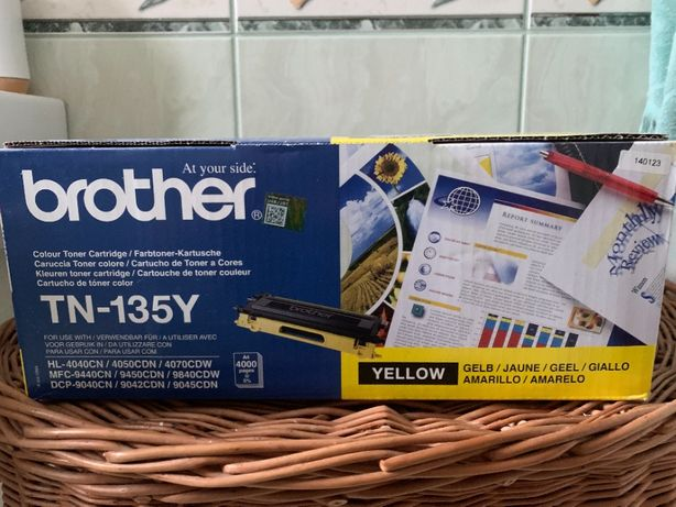 Toner Brother TN-135Y żółty oryginalny