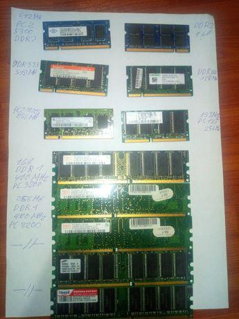 Оперативная память DDR1 DDR2 DDR3
