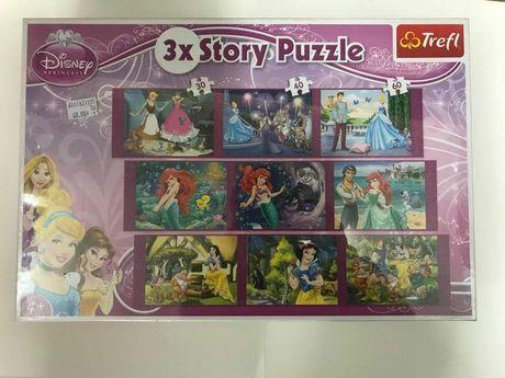 Puzzle Trefl 3x story puzzle Księżniczki