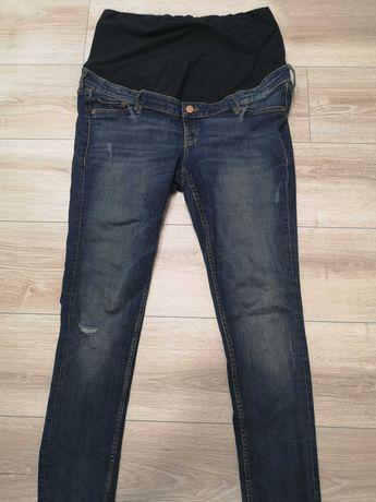 Spodnie jeansy dżinsy ciążowe Mama Pas ciążowy rozmiar 46 H&M