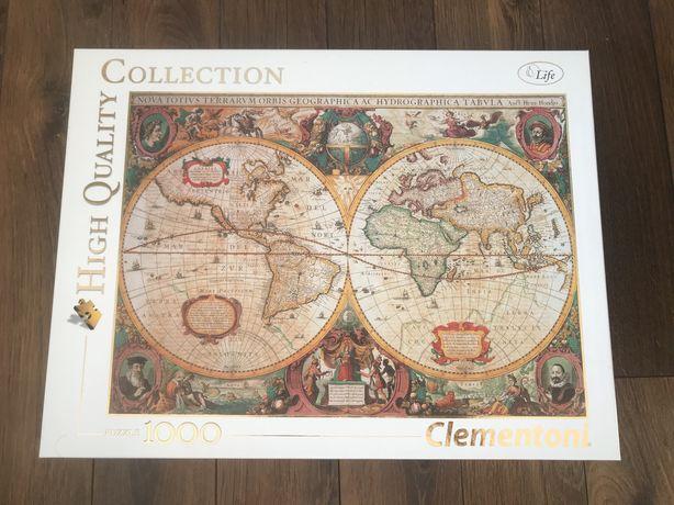 Puzzle Clementoni 1000 elementów mapa świata antyczna.